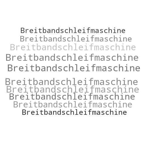 Breitbandschleifmaschine