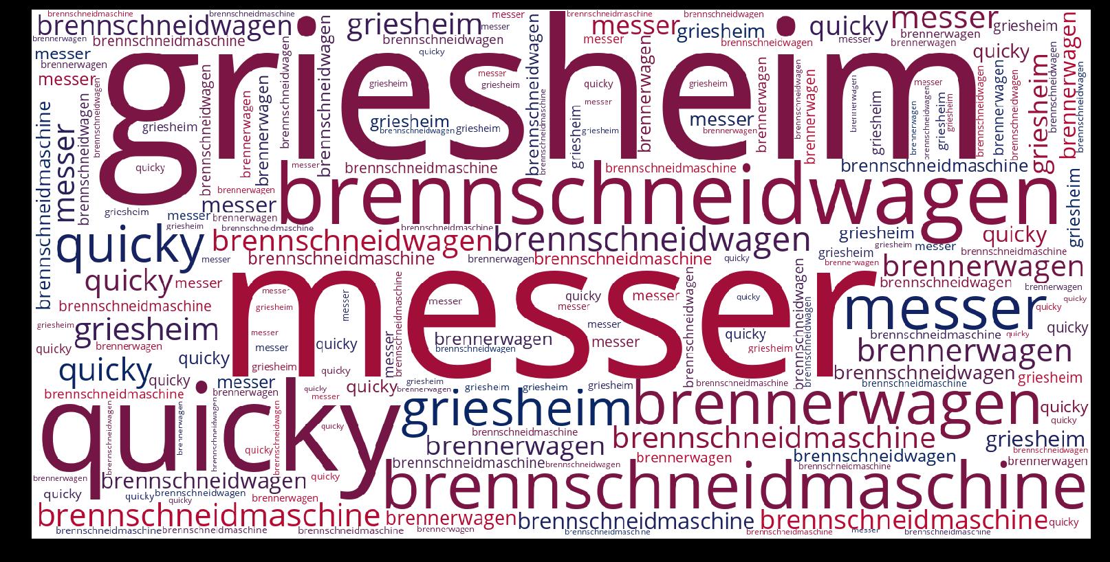 Brennschneidmaschine-wordcloud