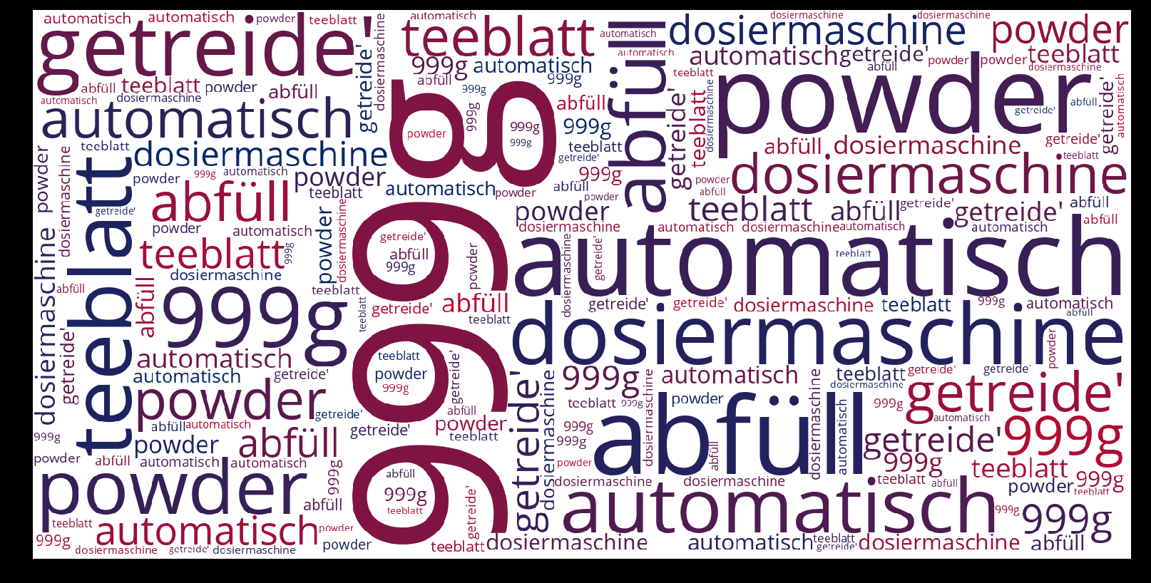 Dosiermaschine-wordcloud