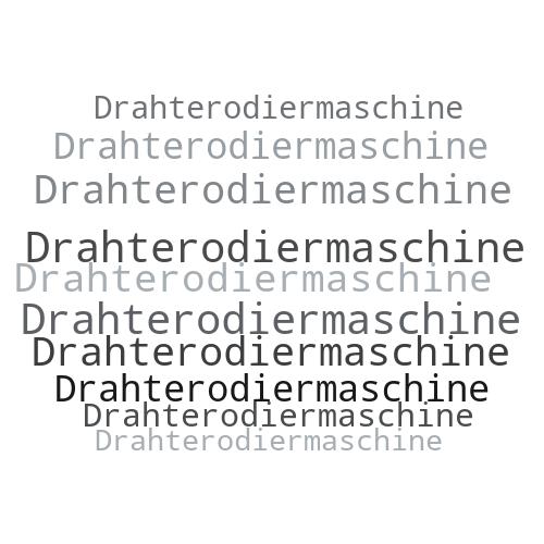 Drahterodiermaschine