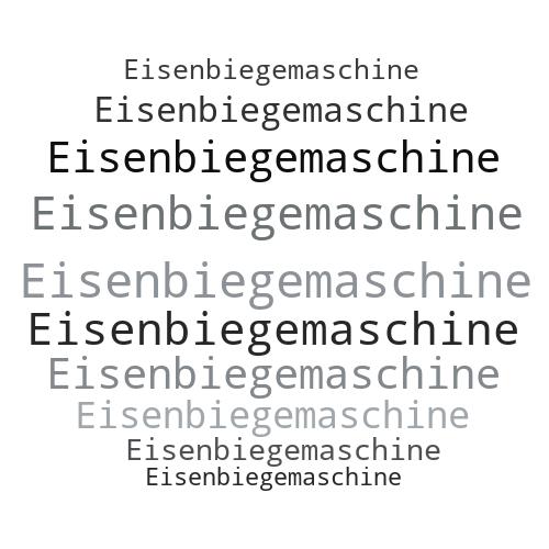 Eisenbiegemaschine