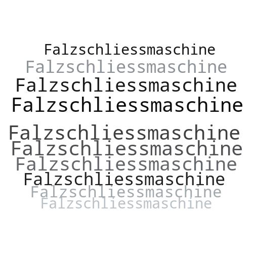 Falzschliessmaschine