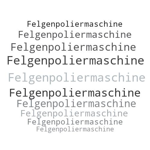Felgenpoliermaschine