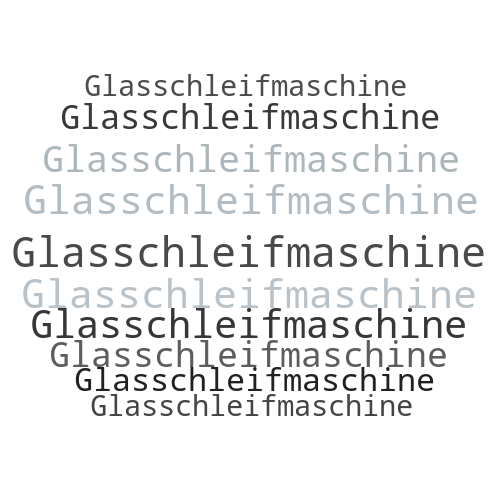 Glasschleifmaschine
