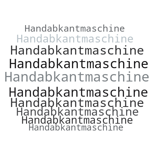Handabkantmaschine