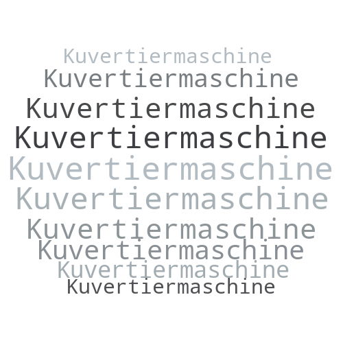 Kuvertiermaschine