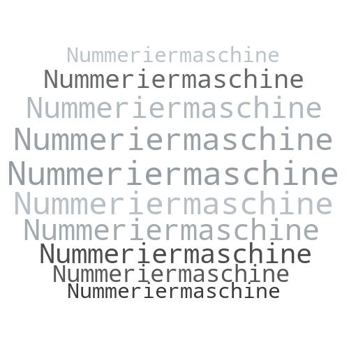 Nummeriermaschine