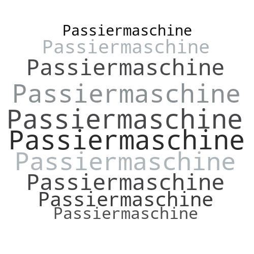Passiermaschine