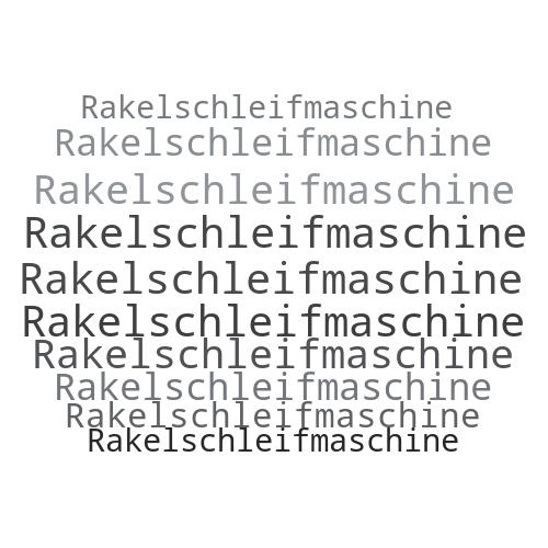 Rakelschleifmaschine