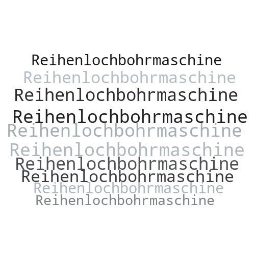 Reihenlochbohrmaschine