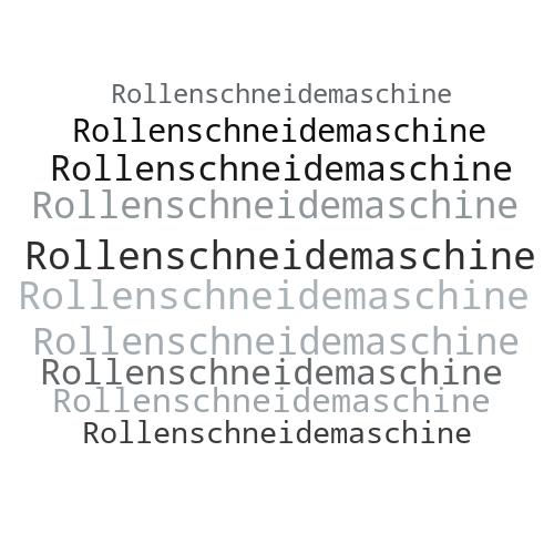 Rollenschneidemaschine
