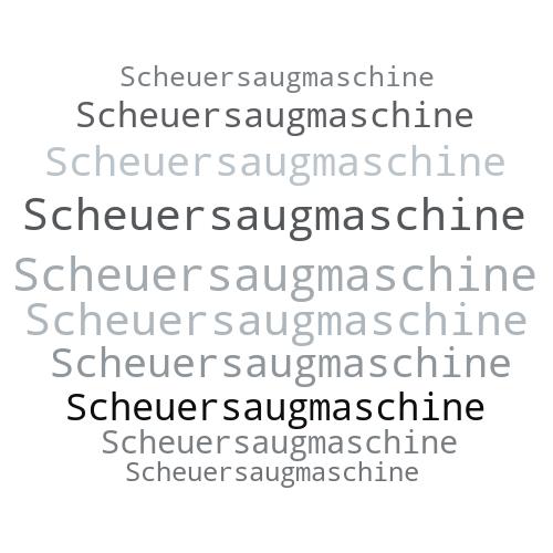 Scheuersaugmaschine
