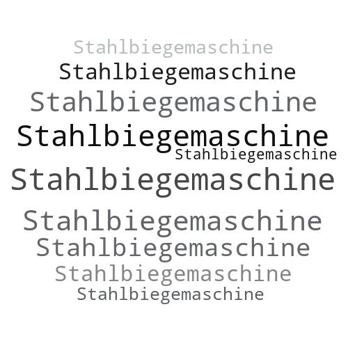 Stahlbiegemaschine
