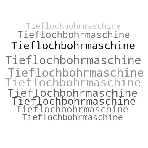 Tieflochbohrmaschine
