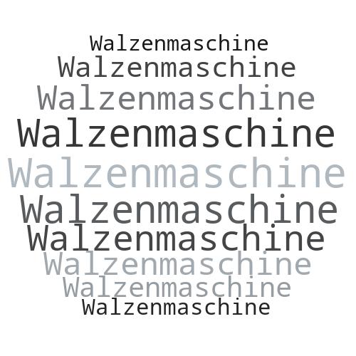 Walzenmaschine